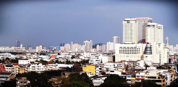 Bangkok, View, Condo, Pool, Condominium, Building, Sky