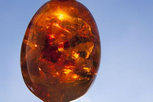 Bernstein, Burning Stone, Gem, Fossilized Resins, Egg