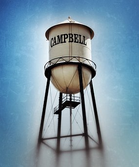 Campbell California, Campbell Water Tower