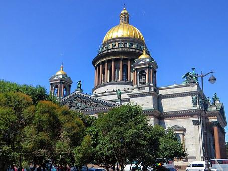 Russia, St-petersburg, Cathedral, St Isaac, Dome