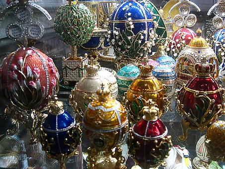 Lay Eggs, Decorated, Isaac, Church, Peter, Russia