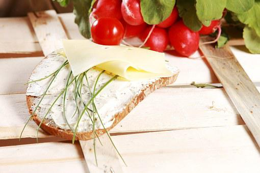 Bread And Butter, Cheese, Chives, Breakfast, Diet, Eat