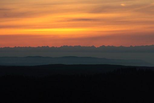 Alpine, Sunrise, Black Forest, Panorama, Feldberg, View