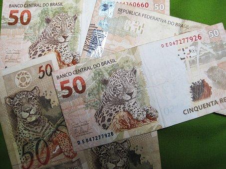 Brazilian Banknotes, Fifty Real Sheet Music, Bills