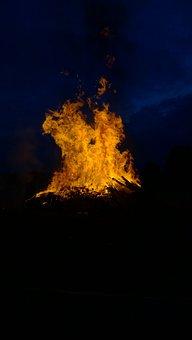 Fire, Midsummer, Barrier Tape, Blaze, Solstice
