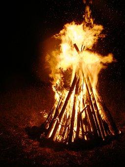 Midsummer, Solstice, Radio, Flame, Fire