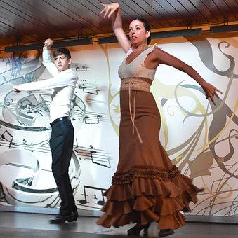 Dancing, People, Man, Woman, Spanish, Flamenco