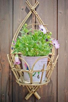 Flowerpot, Purple Daisies, Decoration, Wall Decoration