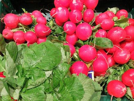 Radishes, Vegetables, Vegetable Market, Food, Eat, Red