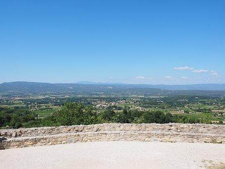 View, Provence, Ventoux, Village, France