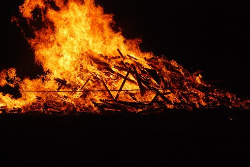 Funeral Pyre, Fire, May Fire, Flame, Heat, Burn
