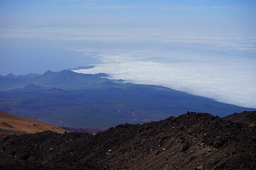 Tenerife, Outlook, Good View, Foresight, Fog, Clouds