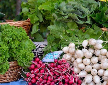 Radish, Vegetables, For Sale, Lettuce, Greens, Healthy