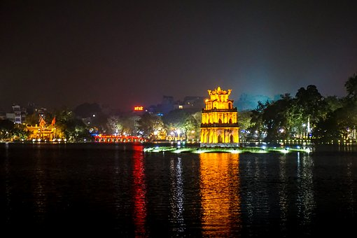 Hanoi, New Year, Vietnamese, Vietnam, Asian, Night