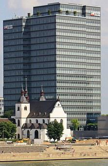 Old St Heribert, Lanxess Tower, Cologne