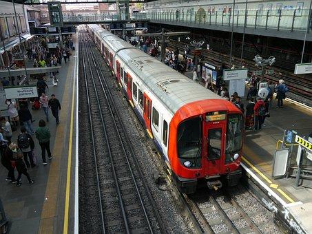 Tube Train, London Undergound, Railway, Train