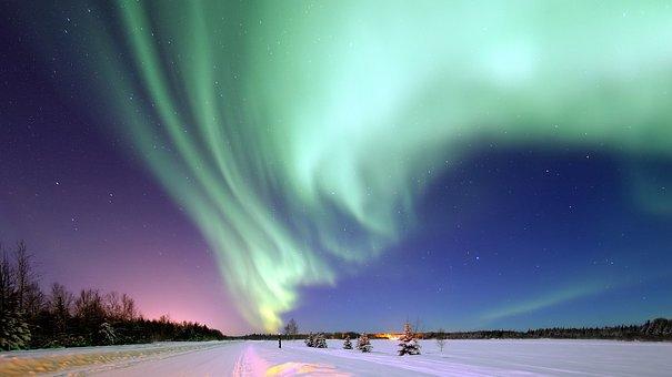Aurora Borealis, Alaska, Space, Magical Night