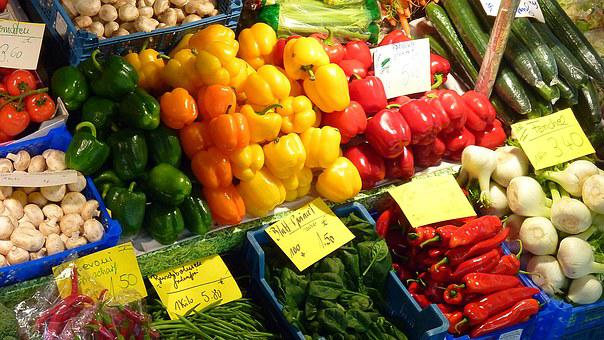 Old Town, Vegetables, Downtown, Market, Market Stall