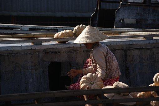 Mekong, Floating Market, Vietnam, Rural, Multi-ethnic