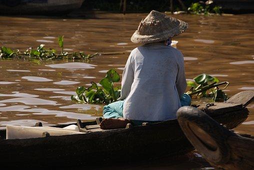 Mekong, Floating Market, Vietnam, Travel, Tourism