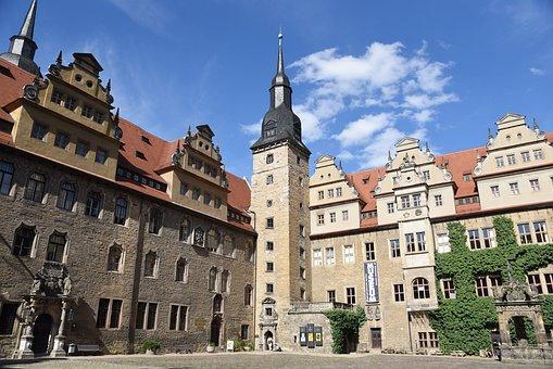 Merseburg Castle, Summer, Castle, Sky, Germany