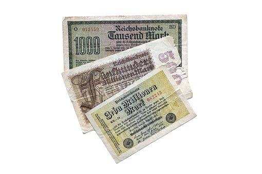 Notgeld, Dollar Bill, Imperial Banknote, Millions, Mark