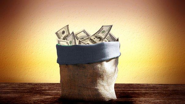 Bag, Dollar, Money, Bank Note, Funds, Us-dollar, Usa