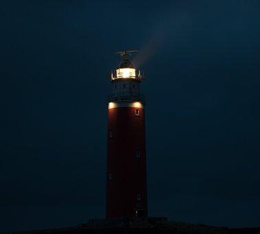 Lighthouse, Night, Light, Tower, Mood, Romantic