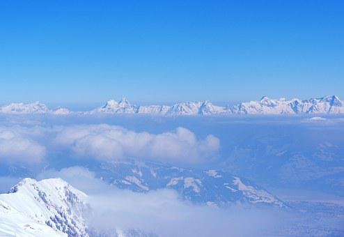 View, Kitzbühel Alps, Above The Clouds, Mountain Summit