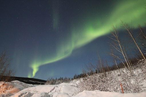Aurora, Borealis, Northern Lights, Night, Sky