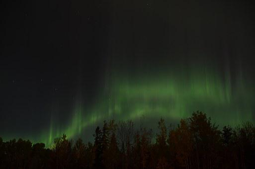 Northern Lights, Aurora Borealis, Sky, Northern