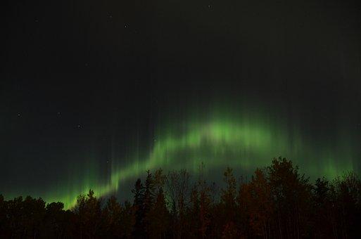 Northern Lights, Aurora Borealis, Sky, Northern