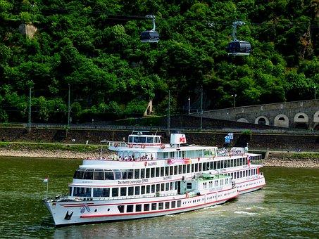 Rhine, Passenger Ship, More, River, Water, Leisure