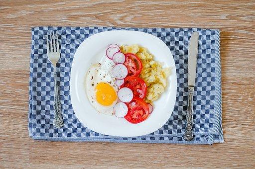 Food, Meal, Potatoes, Tomatoes, Breakfast, Eggs