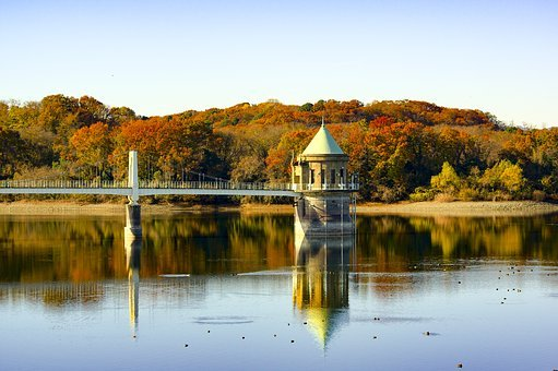 Japan, Sayama Lake, Sayama Hill, Reservoir