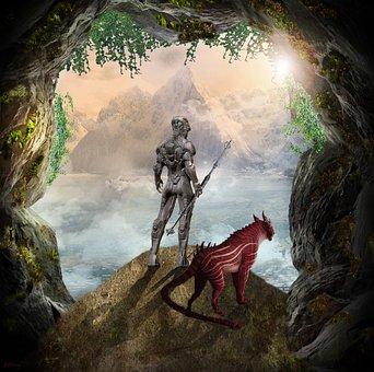 Warrior, Robot, Science Fiction, View, Utopia, Fantasy