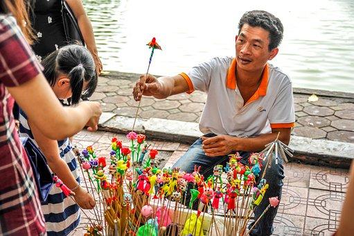 Hanoi, Vietnamese, Traditional, Salesman, Asia