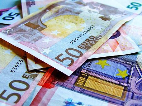 Currency, Notes, Euro, 50, Used Notes, Money, Finance