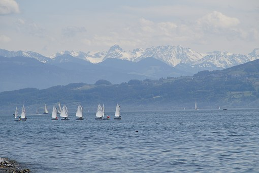 Panorama, Outlook, Lake Constance, Landscape, View