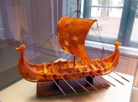 Viking Ship, Sail, Historically, Helm, Viking
