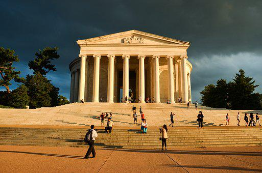 Usa, America, Monument, Washington, Thomas Jefferson