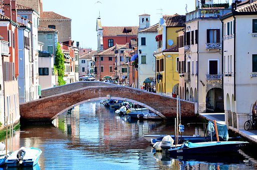 Italy, Chioggia, Bridge, Channel