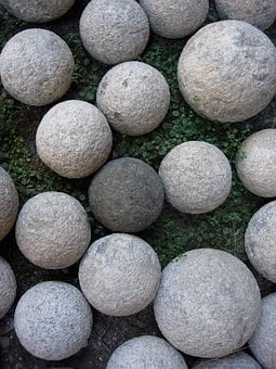 Catapults, Stones, Round, Rhodes, Rock, Rounded, Shaped