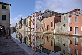 Chioggia, Italy, Channel, Street, City, Reflection