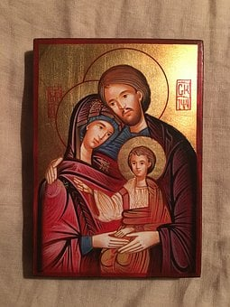 Christian, Icon, The Holy Family, The Birth Of