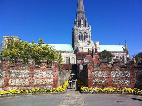 Chichester, City, Cathedral, Buildings, Architecture