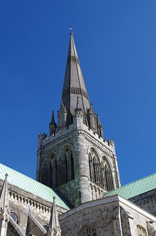 Steeple, Cathedral, Dom, Chichester Cathedral