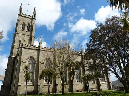 England, Cornwall, Pensance, Tower, Church