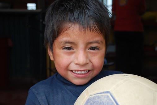 Children, Peru, Ngo, New Steps, Guy, Ball, Face, Smile