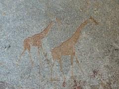 Giraffes, Clips Painting, Matobo, Zimbabwe